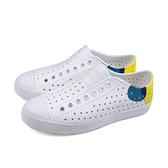 native JEFFERSON BLOCK 休閒鞋 洞洞鞋 白/黃 男女鞋 11100102-8763 no961