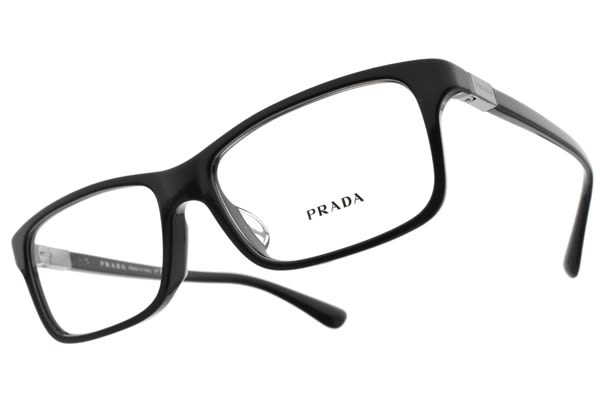 PRADA 光學眼鏡 VPR06SF 1AB1O1 (黑) 義式精品時尚方框款 眼鏡框 # 金橘眼鏡