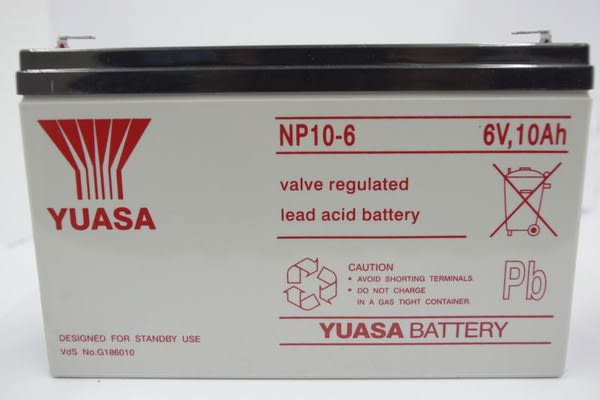 全館免運費【電池天地】湯淺鉛酸蓄電池NP10-6 6V,10Ah 玩具車 緊急照明燈