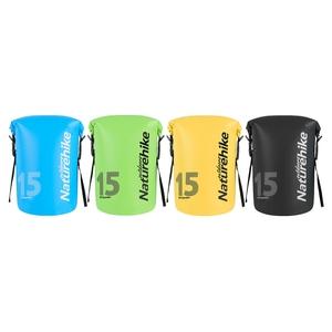 Naturehike 15L波賽頓乾濕分離超輕防水袋 收納袋 2入組黃色+藍色
