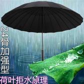 24骨超大傘雙人雨傘抗風傘男女商務傘直柄傘定制印字廣告傘防曬傘 智聯