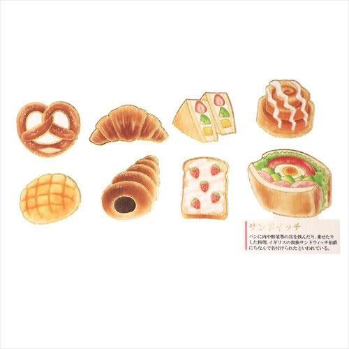 大人圖鑑散裝貼紙包-日本製-30枚入(麵包篇)★funbox★KAMIO_KM08118