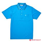 POLO衫男款短袖 夢特嬌 天藍色素面吸濕排汗