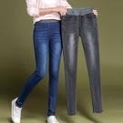 牛仔褲 牛仔長褲女春秋冬好康推薦新款鬆緊高腰彈力修身顯瘦正韓中大尺碼緊身小腳