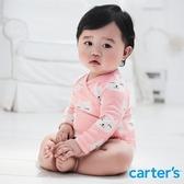 【美國 carter s】貓咪印圖3件組包屁衣-台灣總代理