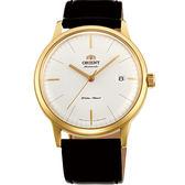 【僾瑪精品】ORIENT 東方 DATEⅡ 復古紳士皮帶機械腕錶/40mm/FAC0000BW