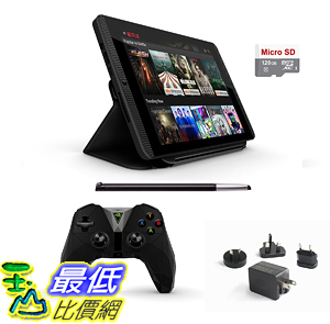 [106美國直購] 套裝 Nvidia Shield Tegra K-1 16GB Gamer Tablet Complete Traveler s 6 items Deluxe Bundle