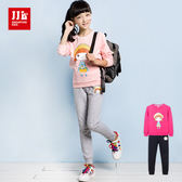 JJLKIDS 女童 可愛女孩休閒長袖套裝(2色)