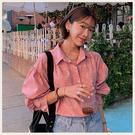 。Styleon。正韓。度假風變形蟲圖騰落肩蓬蓬袖襯衫。韓國連線。韓國空運。0219。