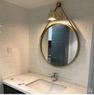 北歐式衛生間鏡子化妝鏡浴室鏡子壁掛鏡子廁...