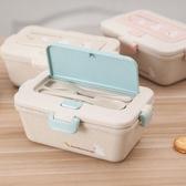 便當盒日式便攜分層麥香保溫飯盒成人上班便當盒可微波爐加熱健康速食盒促銷好物