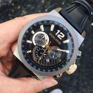 POLICE義大利國際品牌潮流型男計時腕錶/黑色15529JSBBN-12原廠公司貨