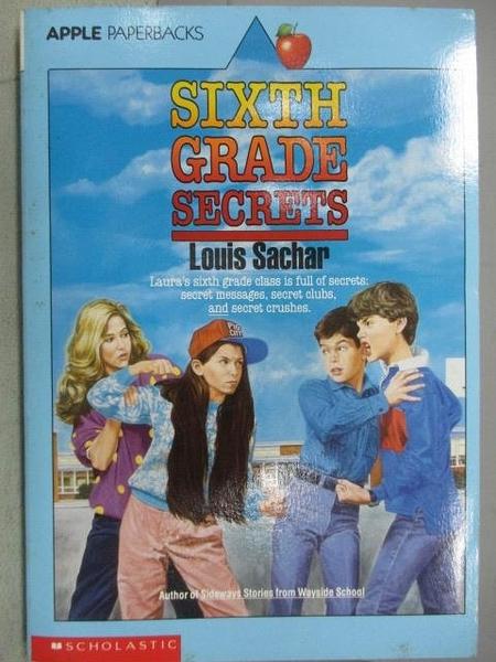 【書寶二手書T9/原文小說_MAE】Sixth Grade Secrest_Louis Sachar