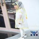 兒童雨衣防水雨披小童雨衣小孩寶寶男女童幼稚園透明【古怪舍】
