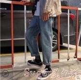 新品牛仔褲牛仔褲男潮牌寬鬆潮流直筒秋冬韓版闊腿老爹秋季百搭長褲子厚