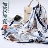 全館85折絲綢真絲絲巾大方巾女100%桑蠶絲圍巾99購物節