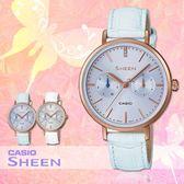 CASIO 手錶專賣店 CASIO SHEEN_ SHE-3054PGL-2A_施華洛世奇_日/星期_女錶