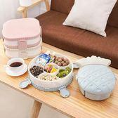 創意家用簡約歐式果盤現代客廳帶蓋干果盤塑料糖果零食收納盒