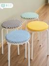 圓形餐椅坐墊家用海綿凳子小圓凳通用墊子學生墊加厚圓墊套罩椅套