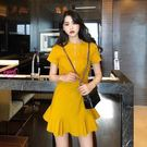 MG 性感拉鍊洋裝連身裙 魚尾短裙(色)...