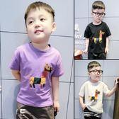 T恤-男童夏裝T恤新款韓版寶寶短袖打底衫小童兒童夏季半袖上衣潮 依夏嚴選