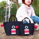 萬聖節快速出貨-韓版飯盒袋手拎帆布袋子媽咪包女手提帶飯裝午餐便當包日本可愛小