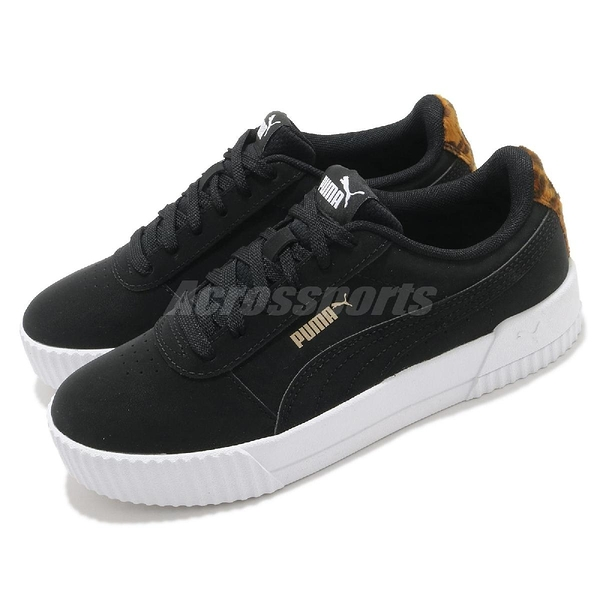 Puma 休閒鞋 Carina Leo H 黑 白 豹紋 女鞋 運動鞋 基本款【ACS】 37322801