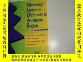 二手書博民逛書店Macmillan罕見Learner s Dictionary
