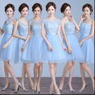 2016新款春夏伴娘團禮服短款結婚伴娘禮服姐妹裙畢業小禮服女