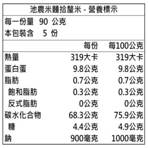 【池上鄉農會】刀削麵 - 拾釐米 450g/包