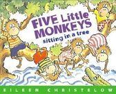 『『鬆聽出英語力/廖彩杏書單--第3週』-FIVE LITTLE MONKEYS SITTING IN A TREE /英文繪本+CD(JY版)