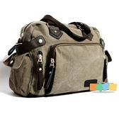 帆布包側背包潮包單肩包斜跨包旅行包手提包男包包時尚書包休閒包    3C優購