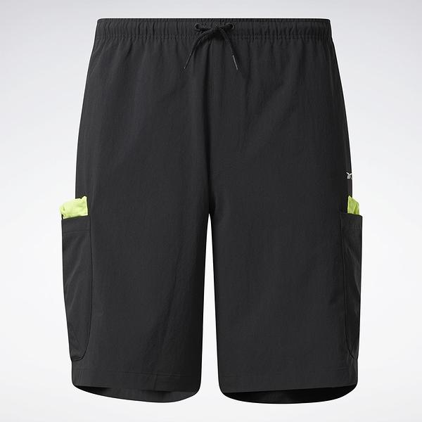 Reebok LIFUL MINIMAL GARMENTS 男裝 短褲 聯名 口袋 拉繩 黑【運動世界】GU3735