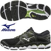 MIZUNO WAVE SKY2 4E 男鞋 慢跑 網布 透氣 耐磨 寬楦 黑 【運動世界】J1GC181104