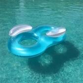 游泳圈 充氣-雙人8字加大加厚水上活動坐騎浮板73ez18【時尚巴黎】
