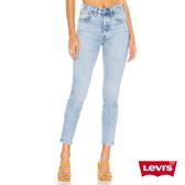 Levis 女款 501 Skinny 高腰合身窄管 排釦牛仔褲 彈性柔軟布料 水洗藍