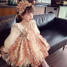 女童洛麗塔公主裙春裝2021新款兒童正韓洋氣碎花蕾絲蓬蓬公主裙子