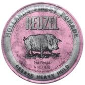 REUZEL Heavy Hold Pomade 粉紅豬 髮油 超強 油性髮油 113G【七三七香水精品坊】