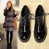 小皮鞋女ins潮鞋秋季新款秋款百搭黑色復古英倫風單鞋冬   韓流時裳