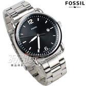 FOSSIL 公司貨  日期顯示 防水手錶 精品 不銹鋼 黑色 男錶 FS5391