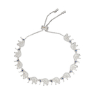 apm MONACO法國精品珠寶 閃耀銀色鑲鋯EQUILIBRE大象可調整手鍊手環