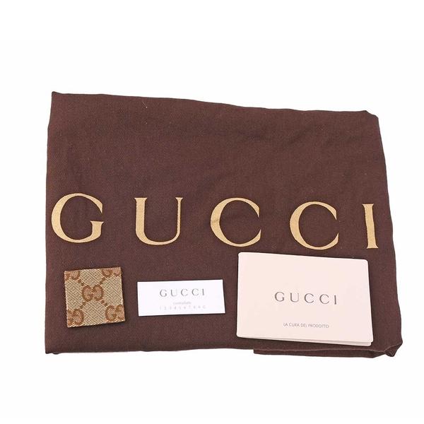 【GUCCI】緹花 logo編織把手肩背包(焦糖色) GU11000379