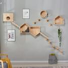 貓跳台 實木貓牆 牆壁貓窩 貓抓板 貓跳台貓爬架 貓家具 貓窩 貓窩四季  快速出貨