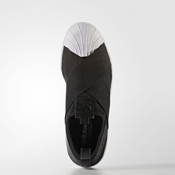 Adidas Originals Superstar Slip On BY2884 女 慢跑 黑 ADI020