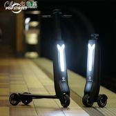 智慧可折疊電動滑板車代步車電動成人小迷你型踏板電瓶車YXS「七色堇」