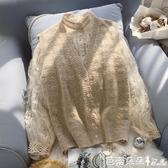 針織馬甲女背心寬鬆外搭春季薄款鏤空毛衣開衫小馬甲外套短款-Ballet朵朵
