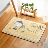 吸水防滑腳墊印花卡通可愛門墊臥室廚房浴室衛生間【極簡生活】