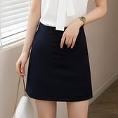 窄裙 黑色職業半身裙女A字夏季2020新款工作裙時尚氣質短裙包臀一步裙