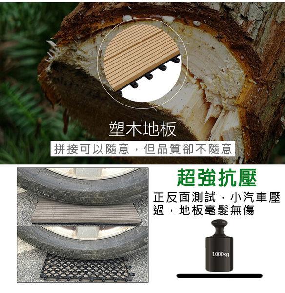 【團購world】免運費 DIY防滑拼接木塑地板15片組 環保型木塑複合地板 拼接戶外地板