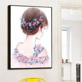 十字繡線繡新款卡通女孩花仙子結婚小幅十字繡臥室簡單繡客廳 igo 伊蒂斯女裝
